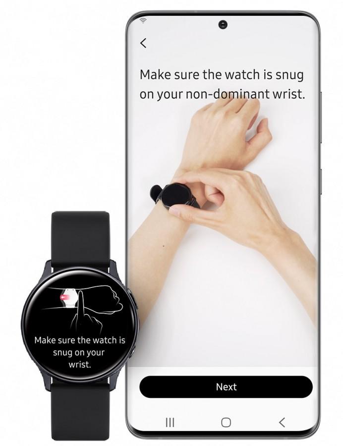 Měření tlaku Samsung Galaxy Watch Active 2