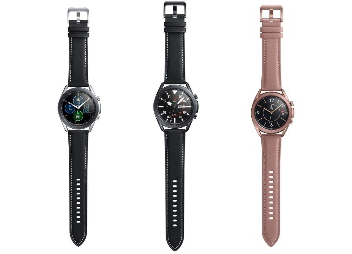 Samsung Galaxy Watch 3 rendery
