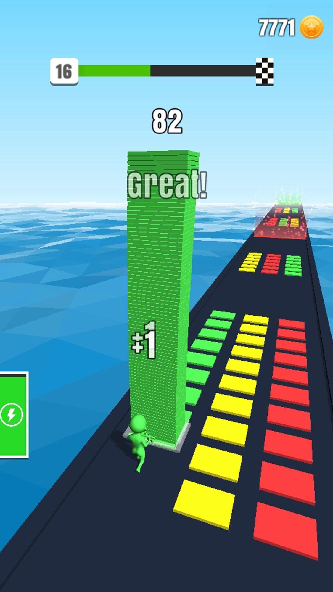 Hra na mobil Stack Colors!
