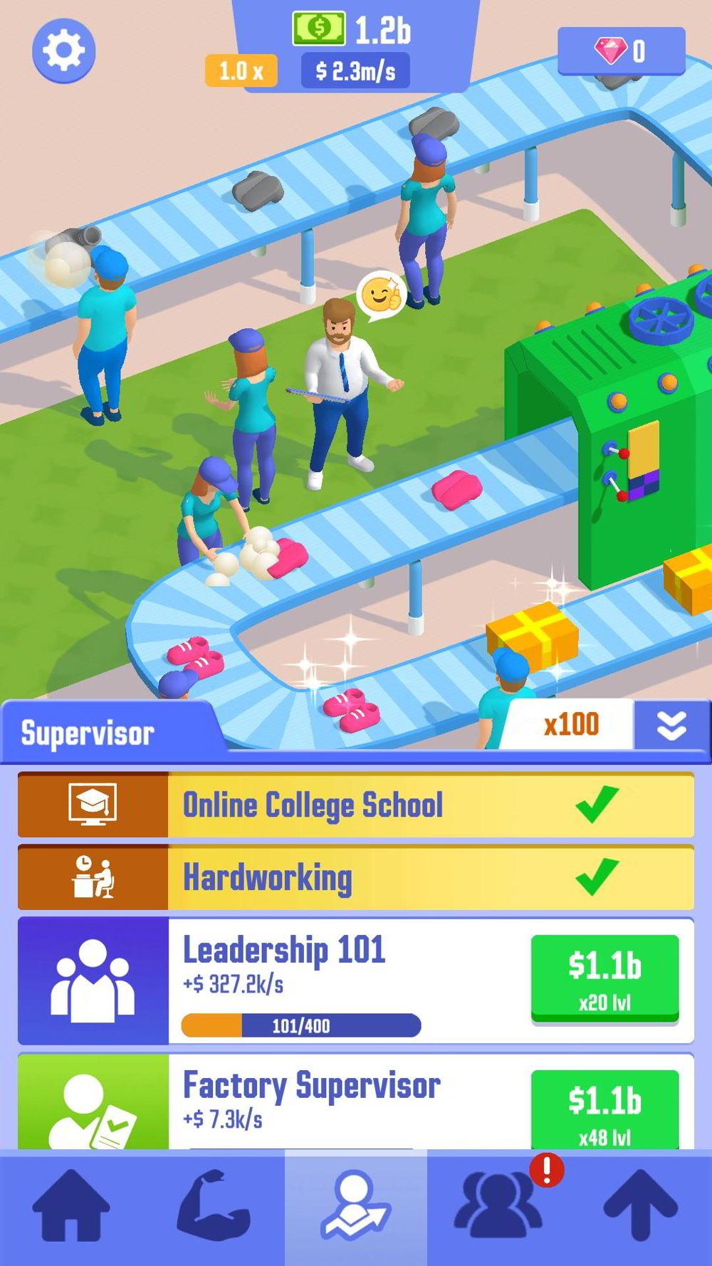 Hra na mobil Idle Success