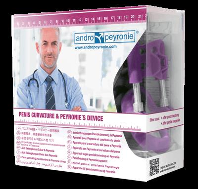 Andropeyronie Penis extender for Peyronie's disease