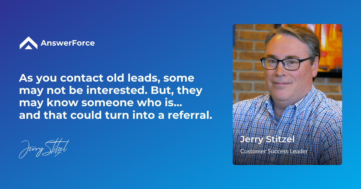 Cold lead to referral tip