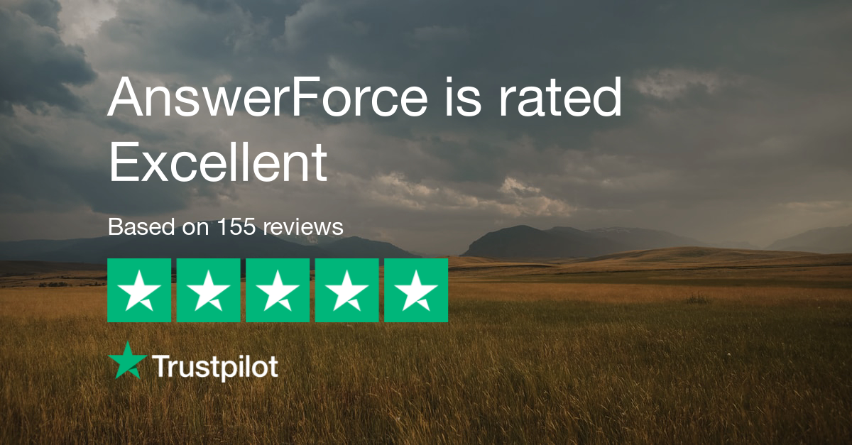 AnswerForce reviews on Trustpilot (1)