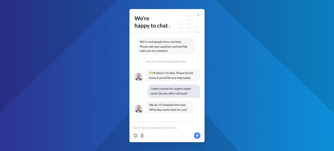 Build a leads pipeline with helpful live chat