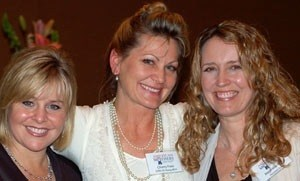 California Association of American Mothers award winners, from left, Susan Funk (2010), Cherry Field (2009) and Meichelle Arntz (2010), all from Santa Barbara.
