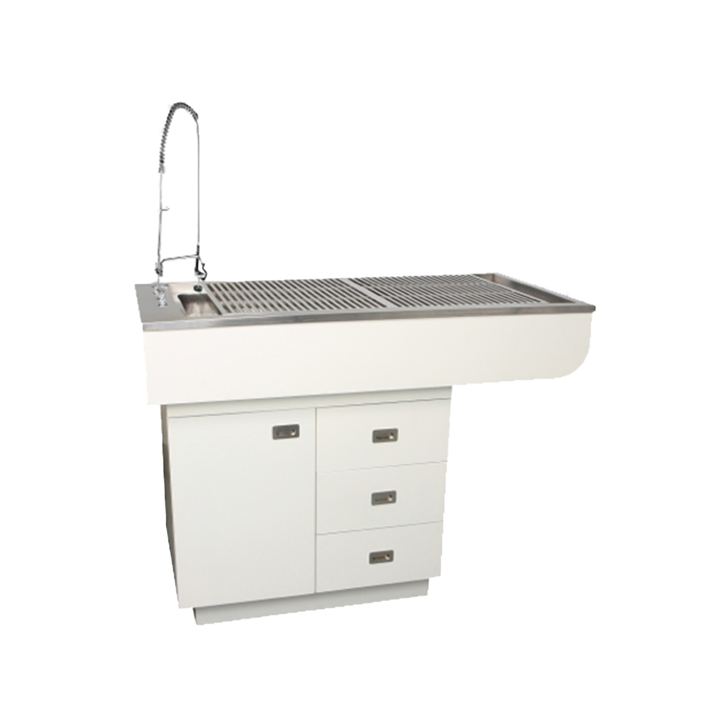 """48"""" Preparation Table with Stainless Steel Tub and Cabinets"""