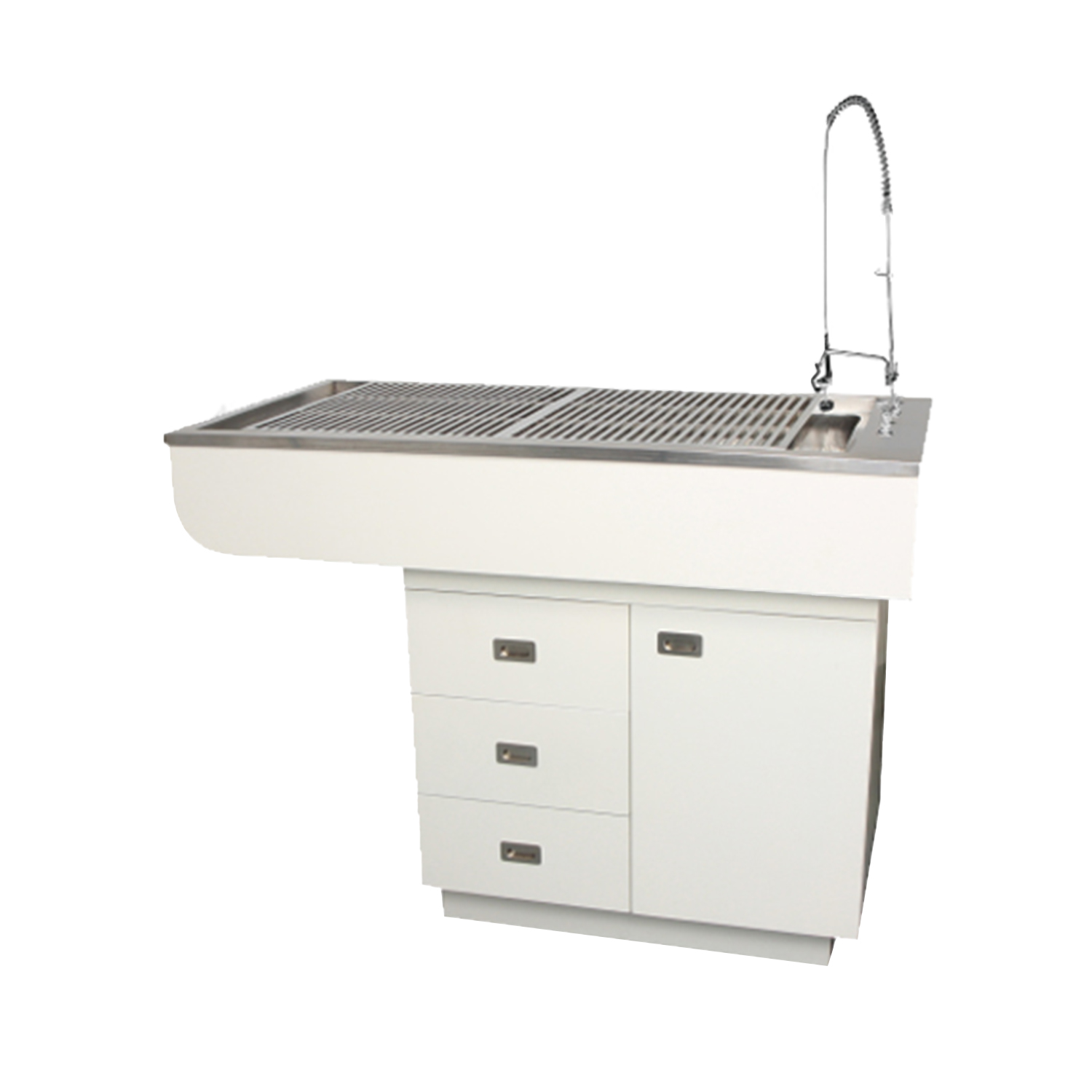 """60"""" Preparation Table with Stainless Steel Tub and Cabinets"""