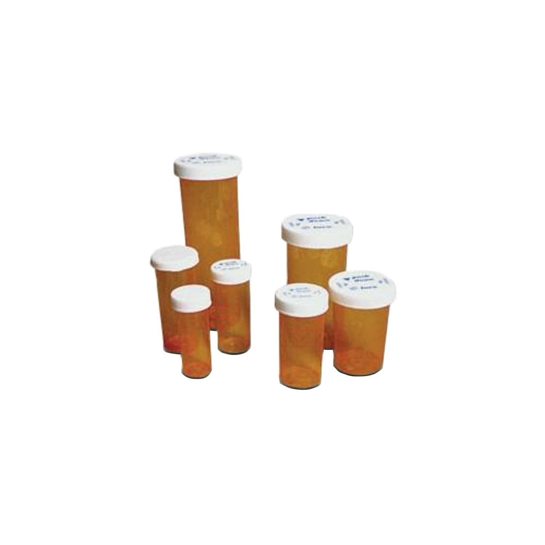 Amber Prescription Safety Cap Vials