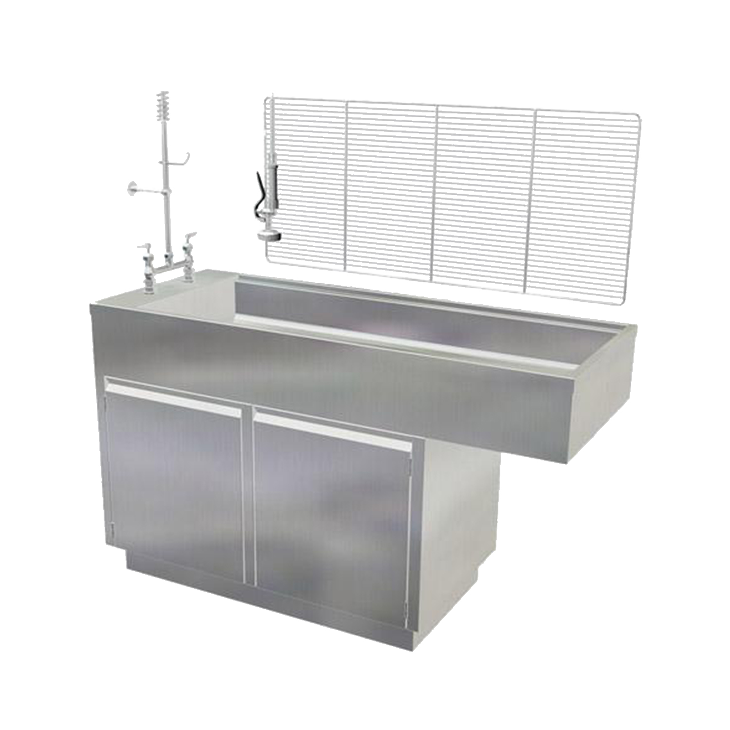 "Avante 48"" Stainless Steel Wet Table (two cabinet doors)"