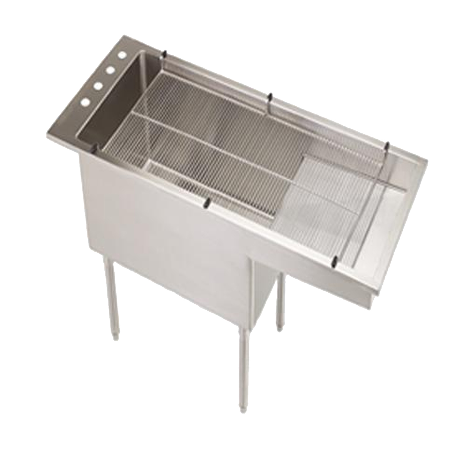 "Bi-Level Tub/Table with Stainless Steel Legs (18"" Deep)"