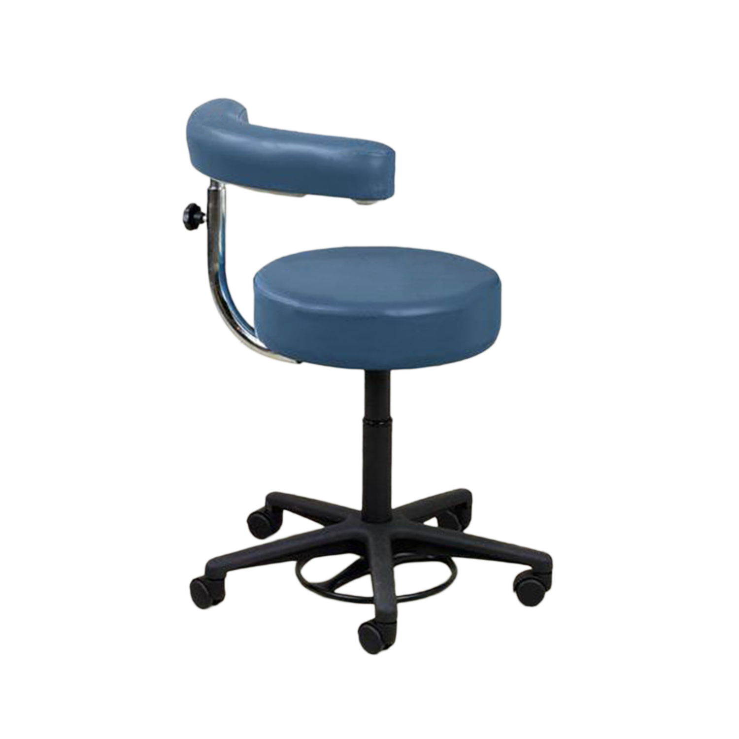 Hands-Free Stool with Armrest