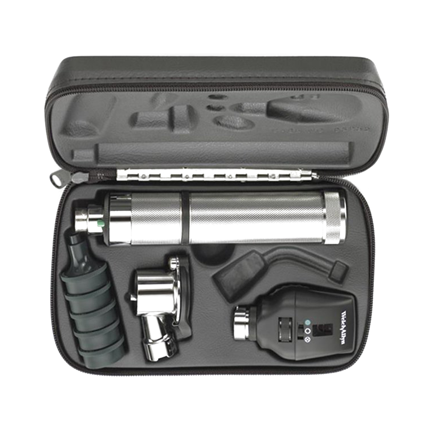 Coaxial Ophthalmoscope, Pneumatic Otoscope, Convertible Nickel-Cadmium Handle, Hard Case