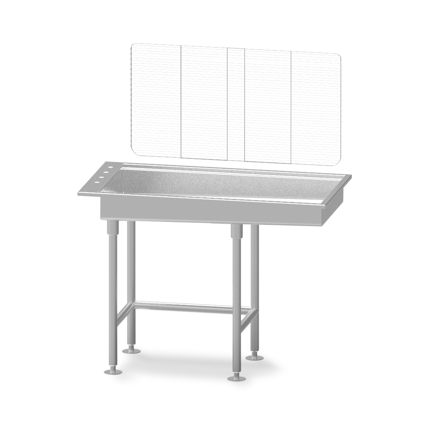 "Avante Economy Stainless Steel 6"" Deep Wet Table"