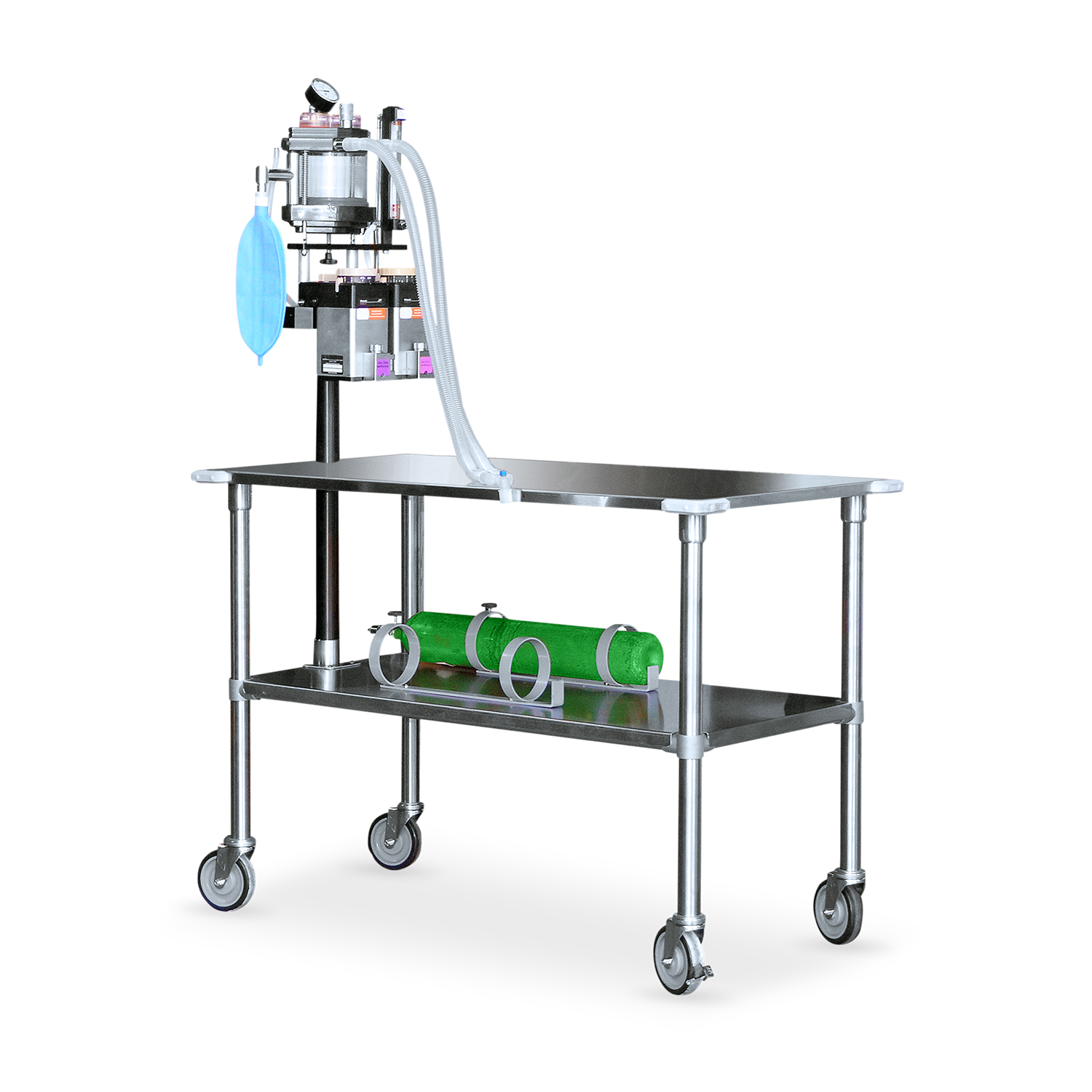 Avante Stainless Steel Gurney with Anesthesia Machine