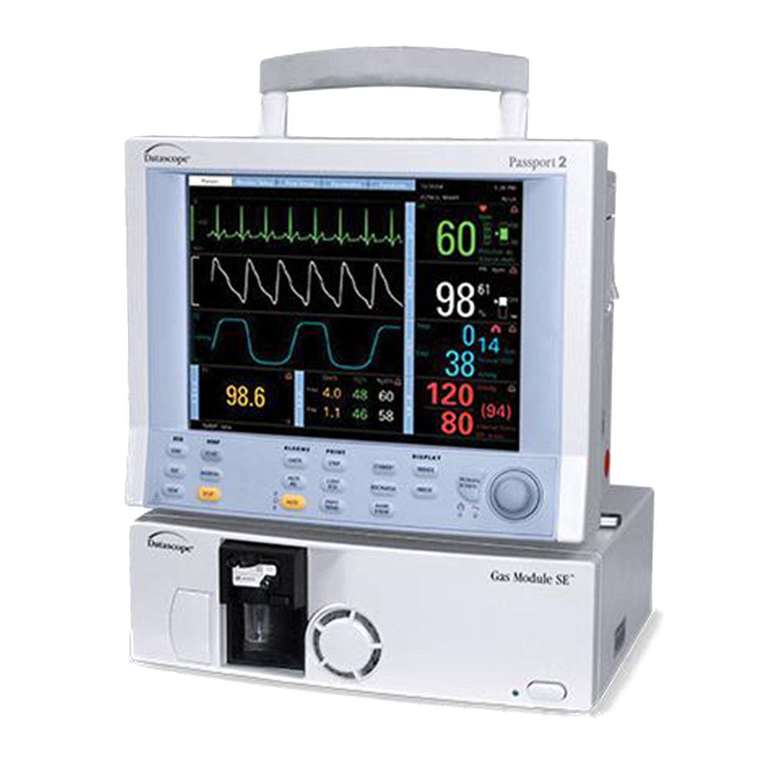 Datascope Passport 2 Patient Monitor with Gas Module SE