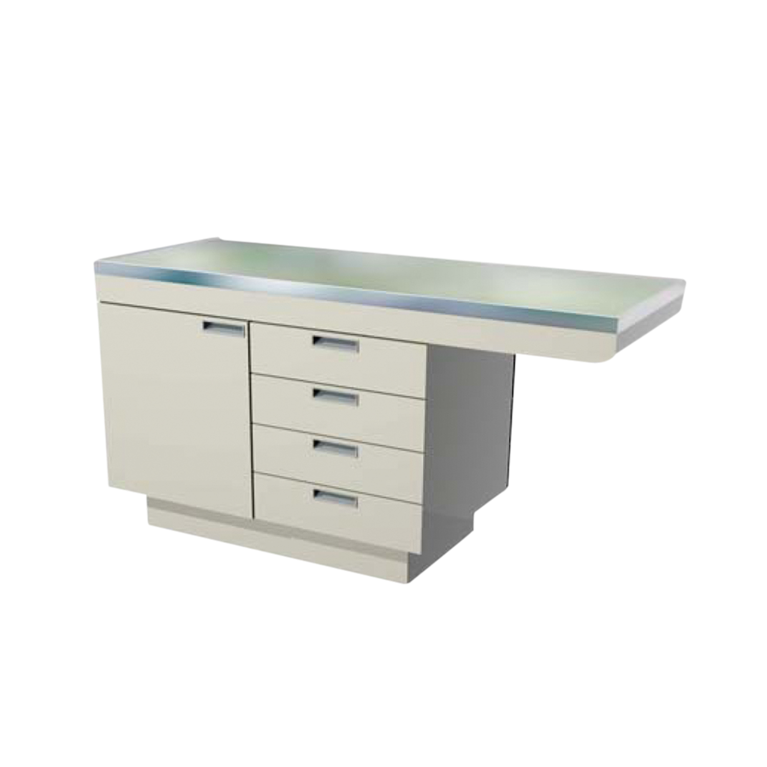 Millwork Cabinet Style Examination Table with Knee Space