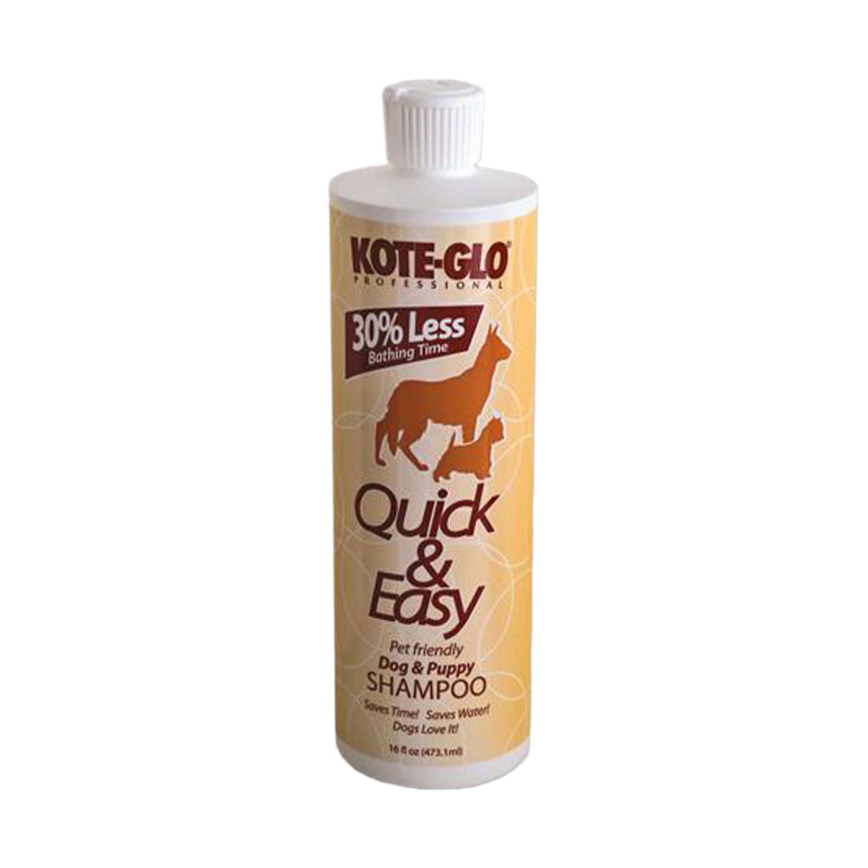 No Rinse Kote-Glo Quick & Easy Premium Shampoo - 16 oz. size, 12 bottles per case