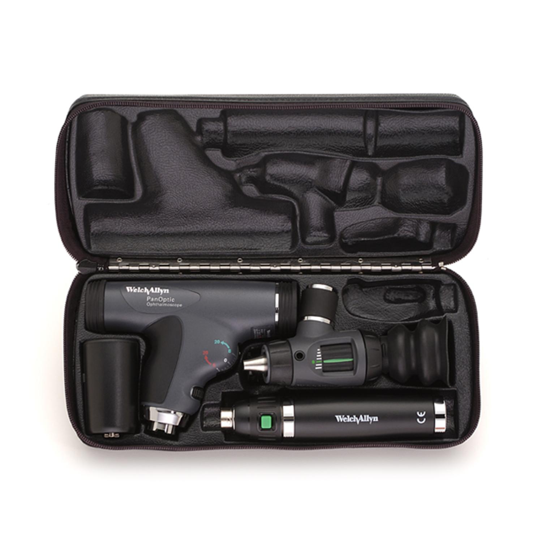 PanOptic Ophthal w/Corneal Lens, MacroView Oto, Lithium Ion Handle, Hard Case