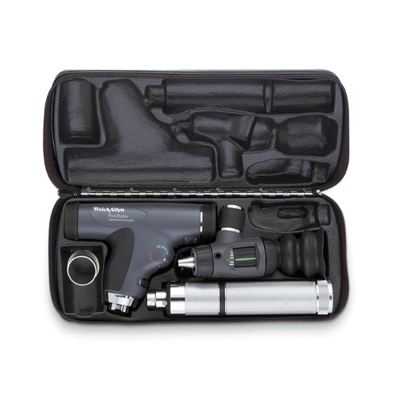 PanOptic Ophthalmoscope, MacroView Otoscope, Convertible Nickel-Cadmium Handle, Hard Case