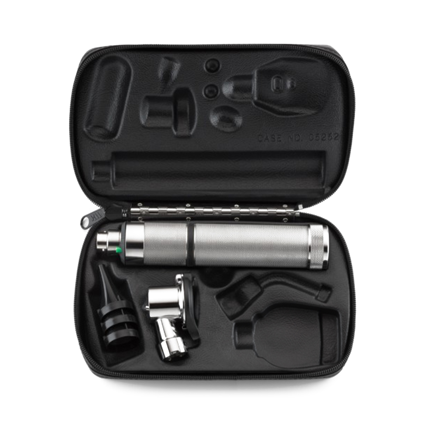 Pneumatic Otoscope Set with Rechargeable Nickel-Cadmium Handle and Hard Case