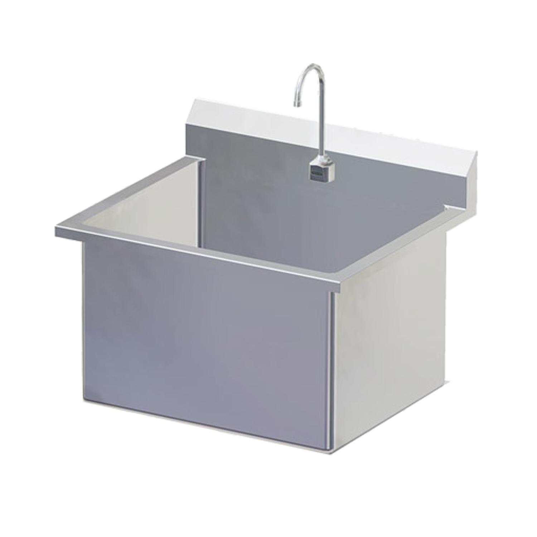 Stainless Steel Single Wide Scrub Sink
