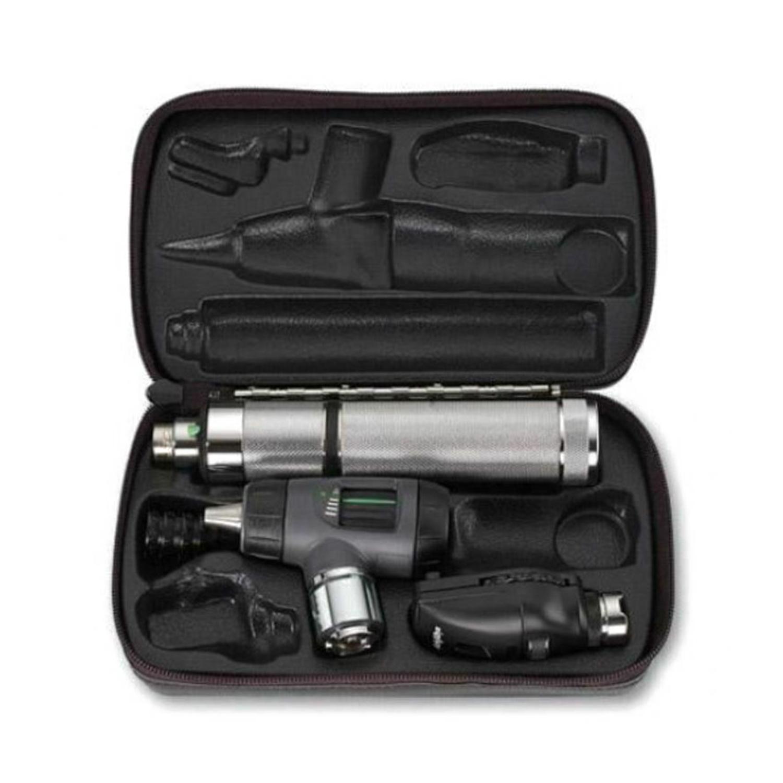 Standard Ophthal, MacroView Oto w/Throat Illuminator, Convert. Nickel Handle, Nasal Illum, Hard Case