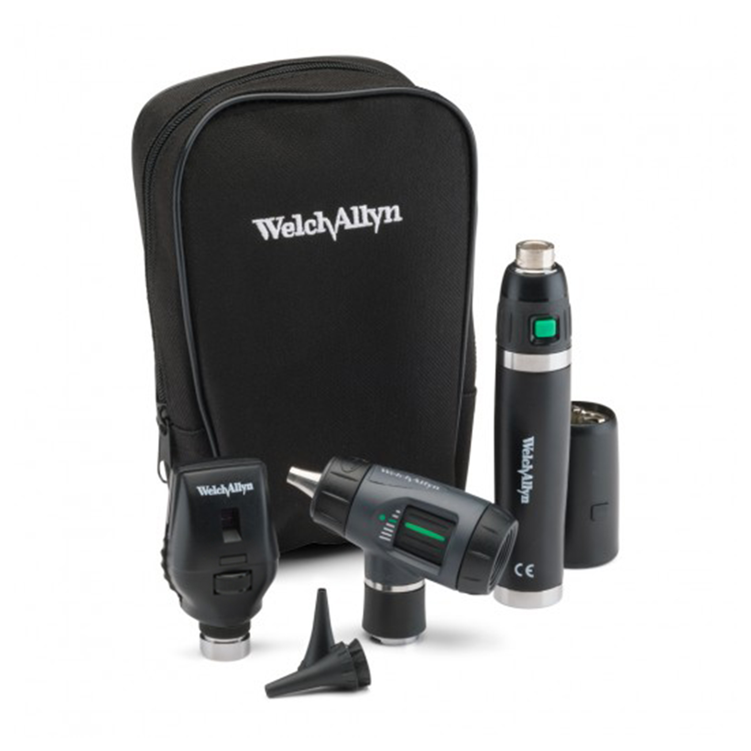 Standard Ophthalmoscope, MacroView Otoscope, Lithium Ion Handle, Soft Case