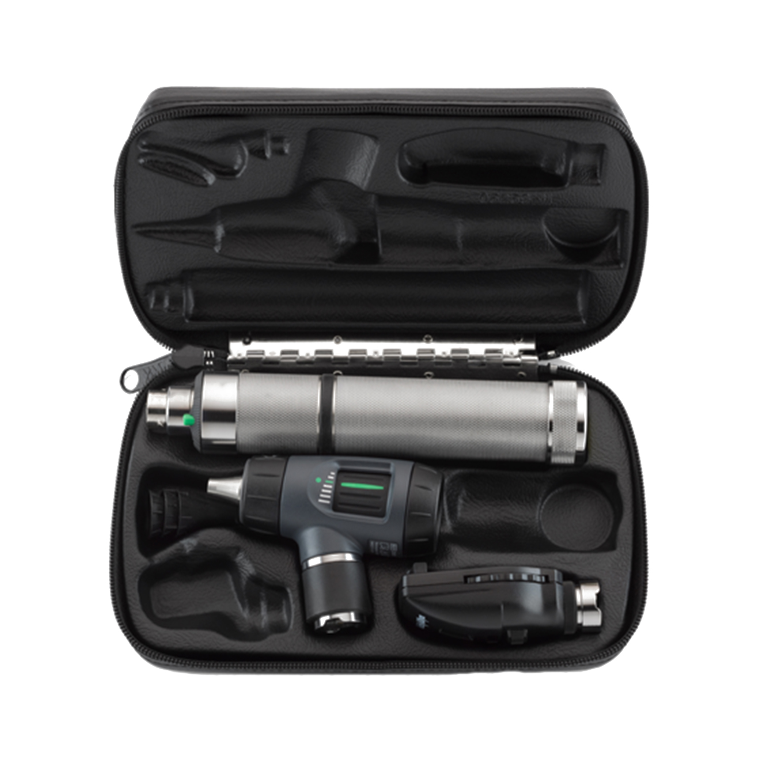 Standard Ophthalmoscope, MacroView Otoscope, Rechargeable Nickel Cadmium Handle, Hard Case
