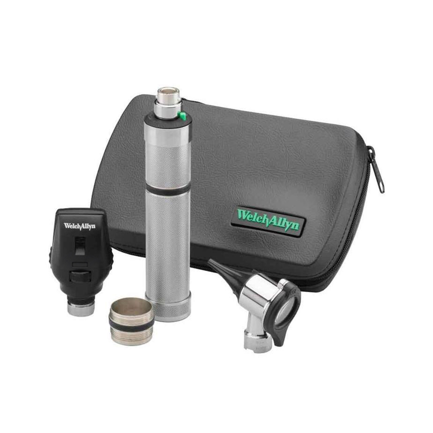 Standard Ophthalmoscope, Pneumatic Otoscope, Convertible Nickel Handle, Hard Case