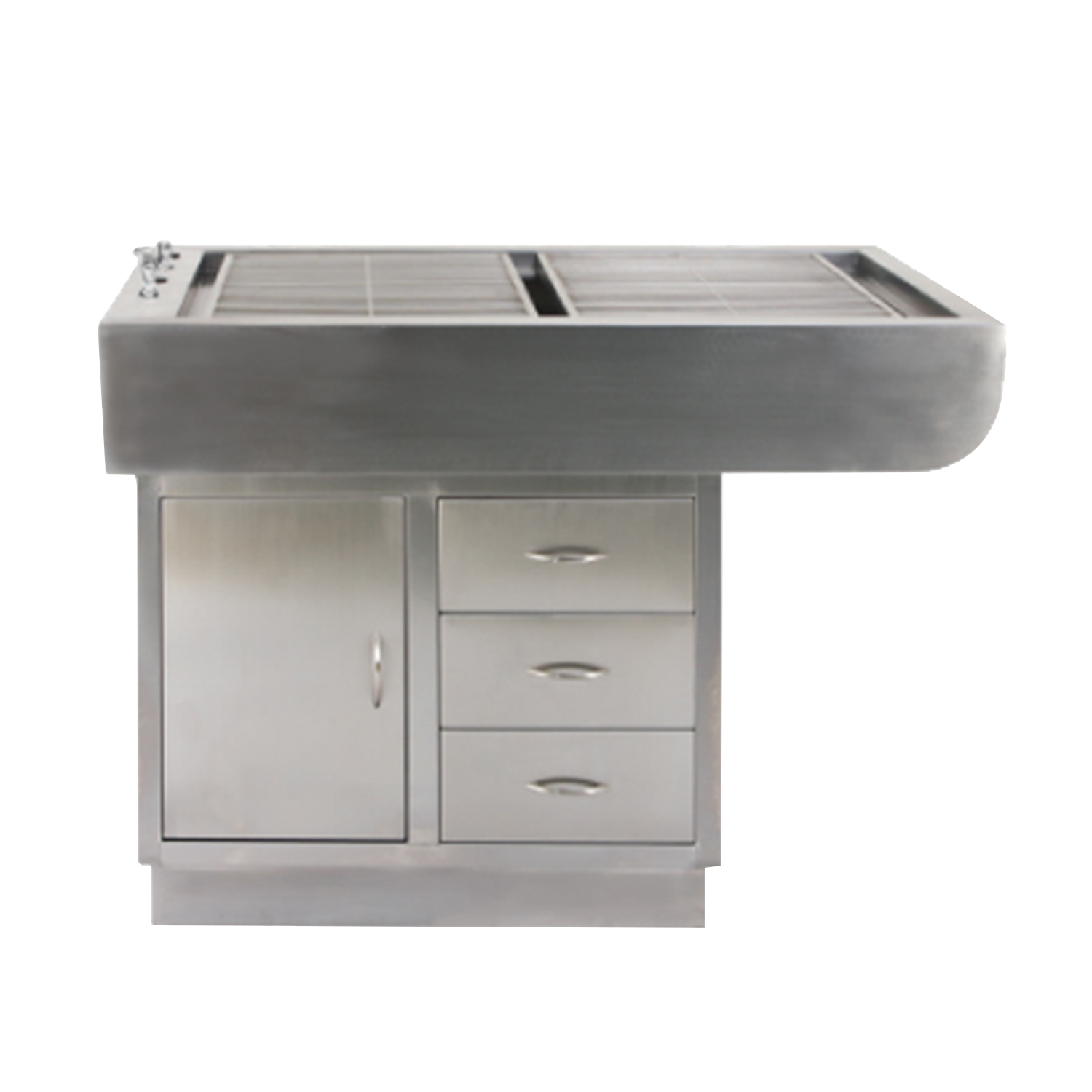 """48"""" Stainless Steel Preparation Table with Tub and Cabinets"""