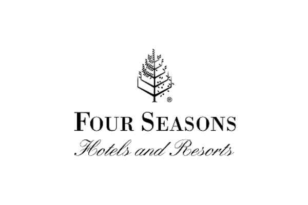 Four seasons hotel and resorts logo. A single tree shows all four seasons at once!