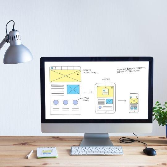 Computer screen describing SEO tips for domain decisions.