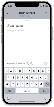 Give feedback through the answerconnect app