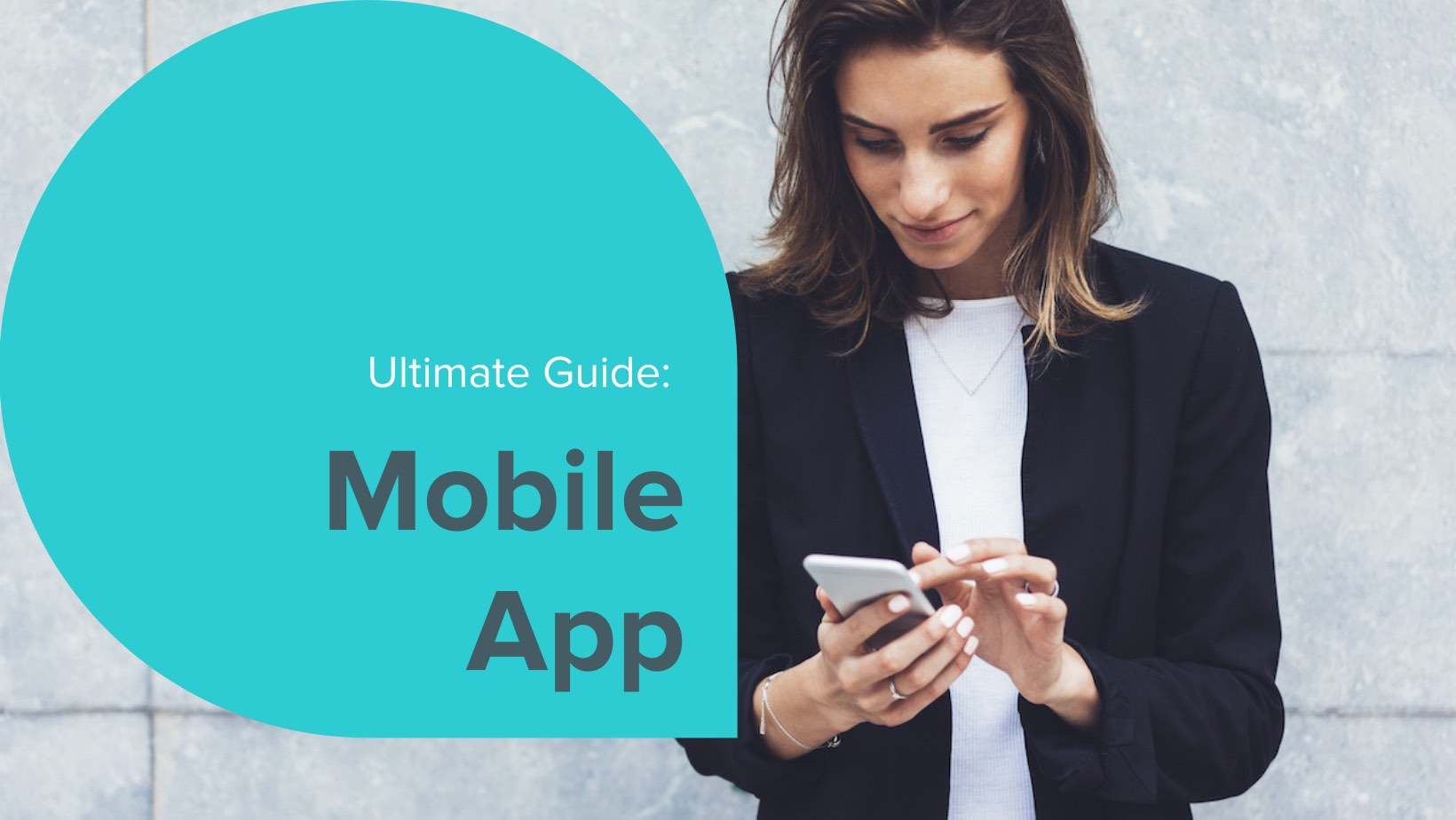 A woman is excited about the features of the updated answerconnect app