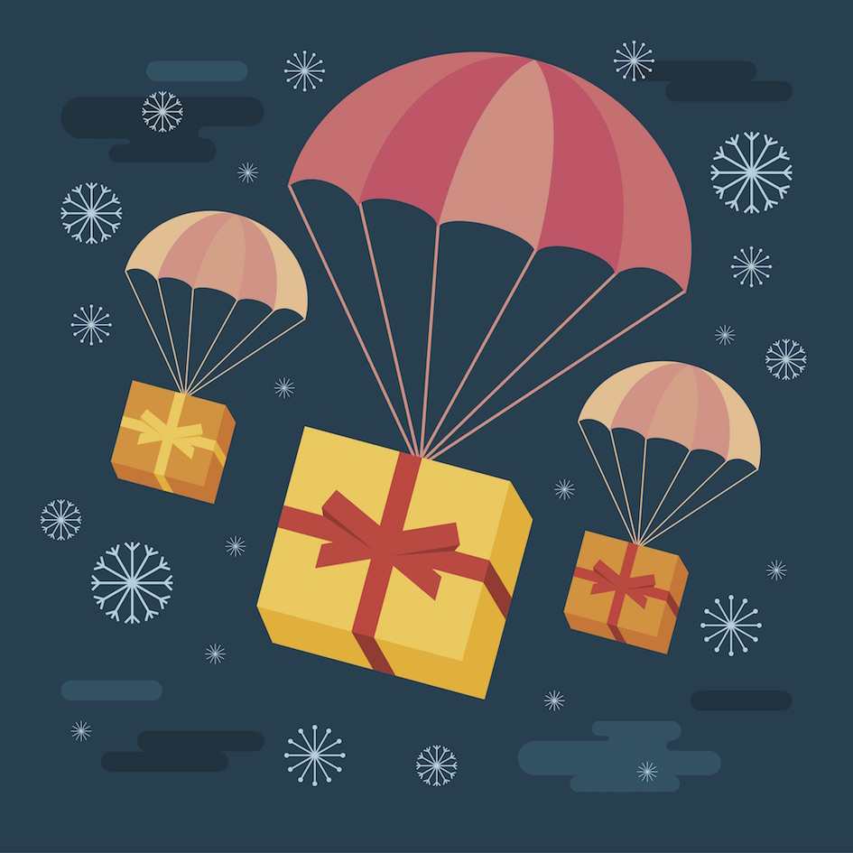 remote working holiday gift exchange