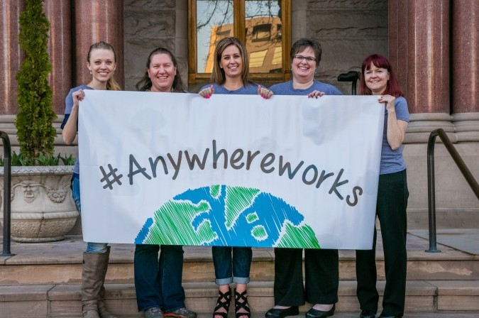 Team with Anywhere Works banner in Utah