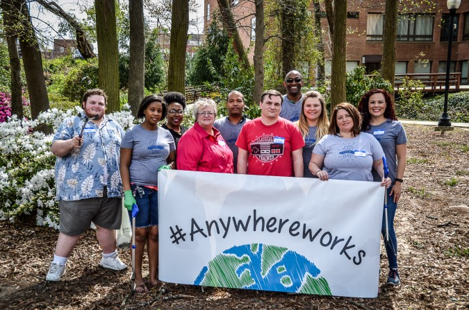 Anywhere Works banner Fayetteville