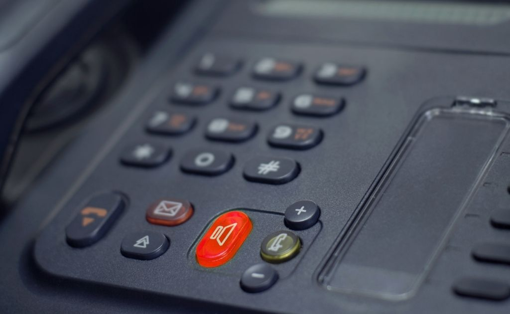 Telephone used for answering calls as part of SME sales & support strategy