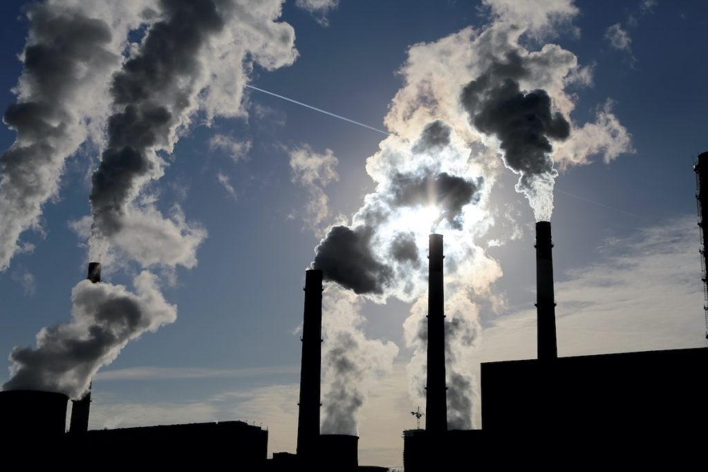 Factories bvurning fossil fuels adriving up co2 ppm count