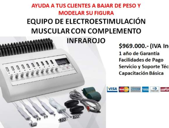 EQUIPO DE ELECTROESTIMULACIÓN MUSCULAR