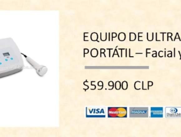 Equipo de Ultrasonido Portátil – Facial y Corporal