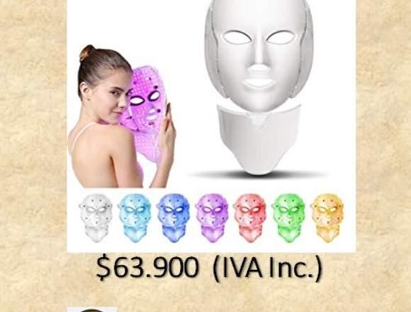 Mascara Facial Photon Led con Cuello