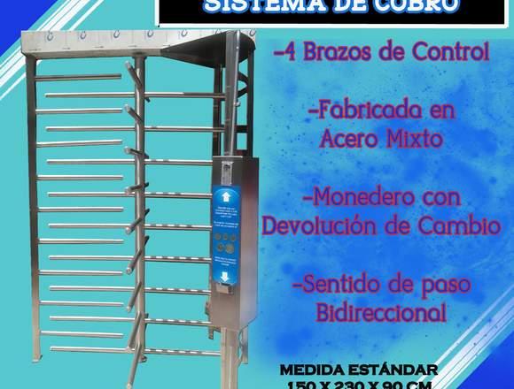 Puerta Giratoria con Sistema de Cobro