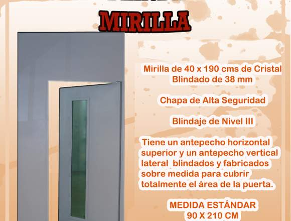 Puerta Blindada con Mirilla