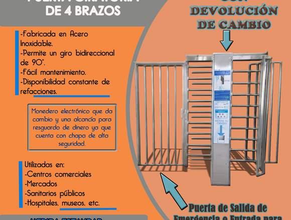 Puerta Giratoria de 4 Brazos-ALSECODEA