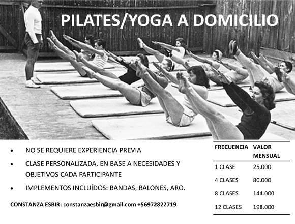CLASES DE PILATES/YOGA A DOMICILIO