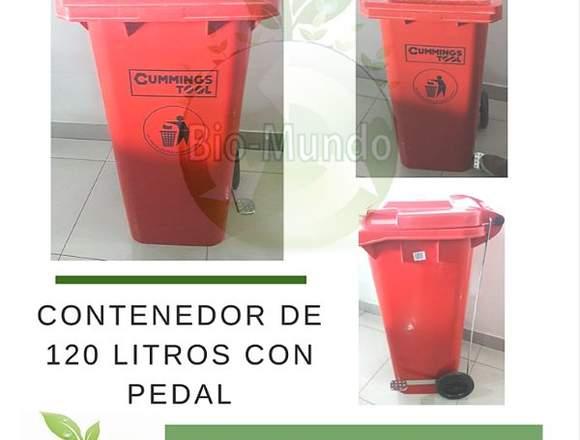Contenedor 120 litros con pedal