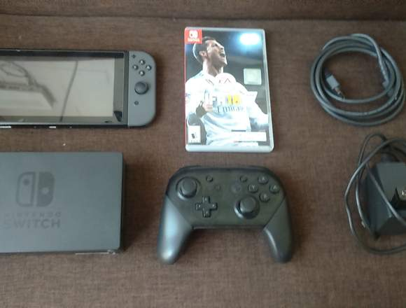 Nintendo Switch+ Control Pro+ Fifa 18 Físico