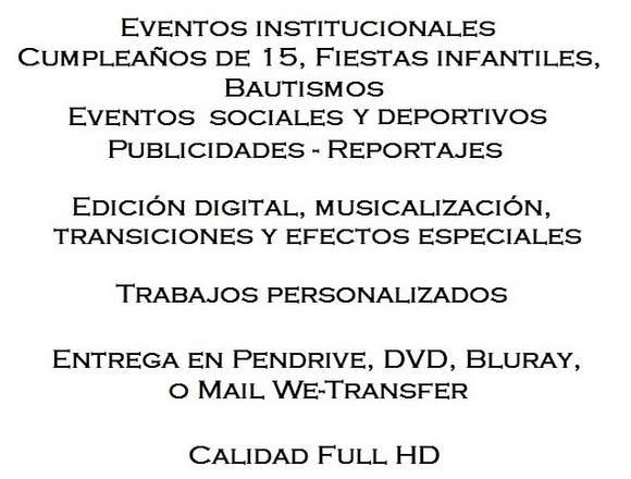 FILMACION DE FIESTAS Y EVENTOS