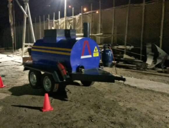 Cocina asfaltica-tanque impremador